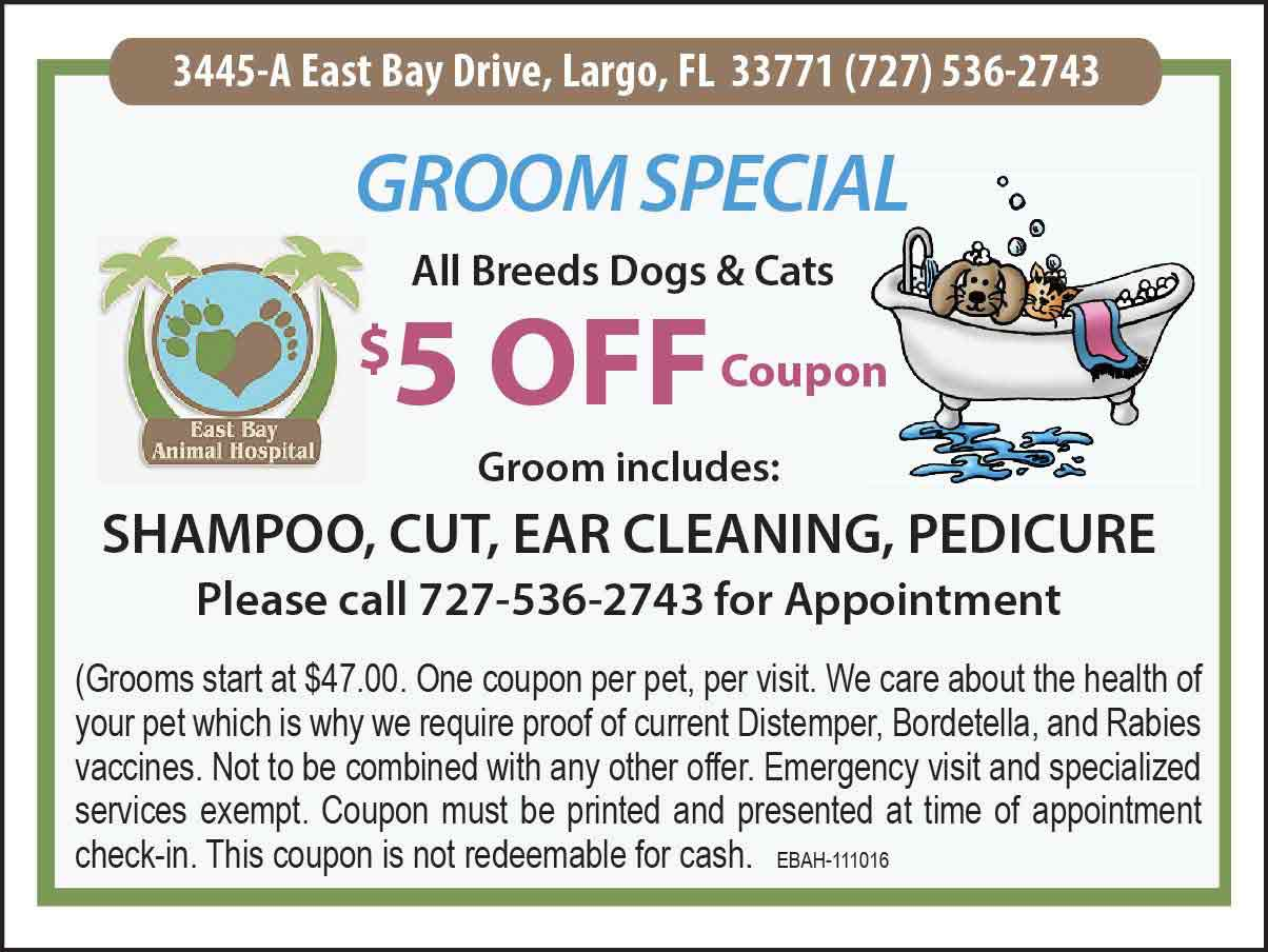 East Bay Animal Hospital Pet Grooming coupon